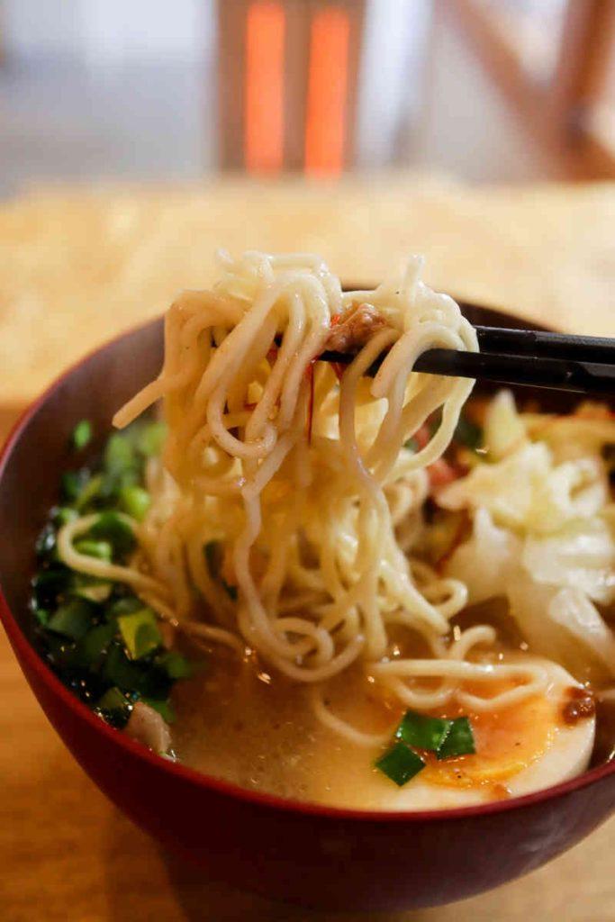 担仔麺の麺