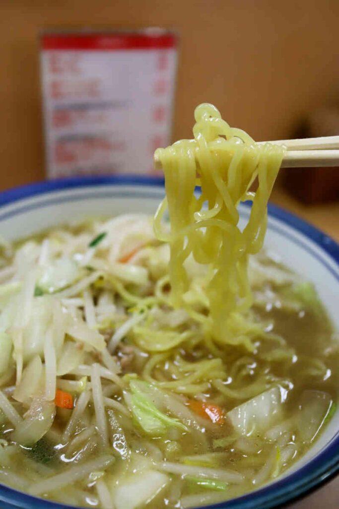タンメンの麺