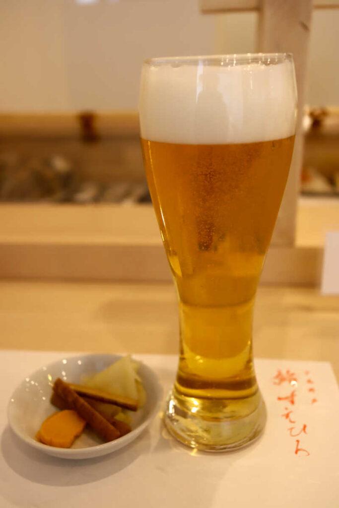 サービス生ビール(中)