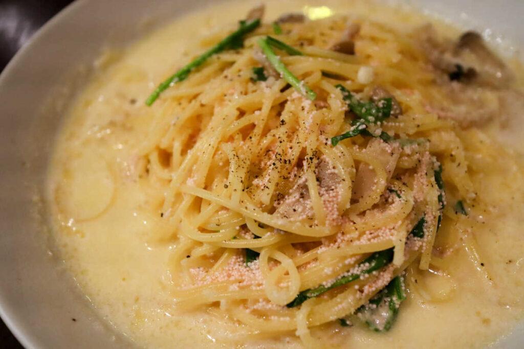 イルチェーロの明太子のクリームスパゲッティ