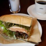 コーヒーハウス『ぽえむ』の菜の花とクリームチーズのサンドウィッチ・ポエンミー第2弾