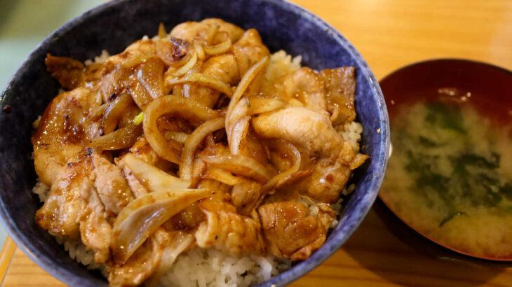 どんぶり専門店『どどん』のワンコイン生姜焼き丼