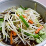 蕎麦『寿々木家』の野菜たっぷりヘルシー野菜蕎麦