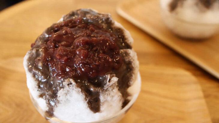 小倉庵の胡麻ごまクリーム&あんこかき氷