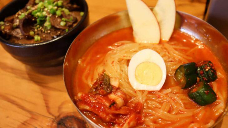 【男気焼肉旨味】辛い冷麺とタンチャーシュー丼ランチ