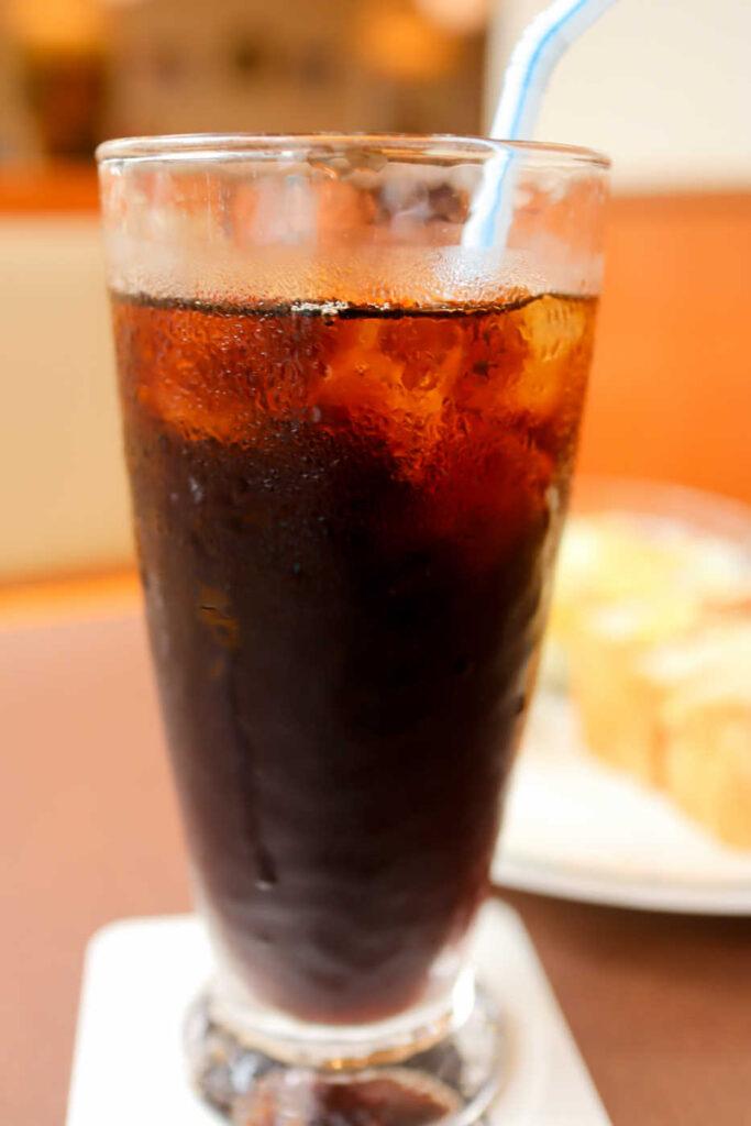 珈琲館の炭焼きアイスコーヒー