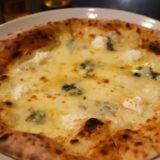 明大前 イタリアン『イルチェーロ』4種のチーズピザ、クワトロ・フォルマッジ