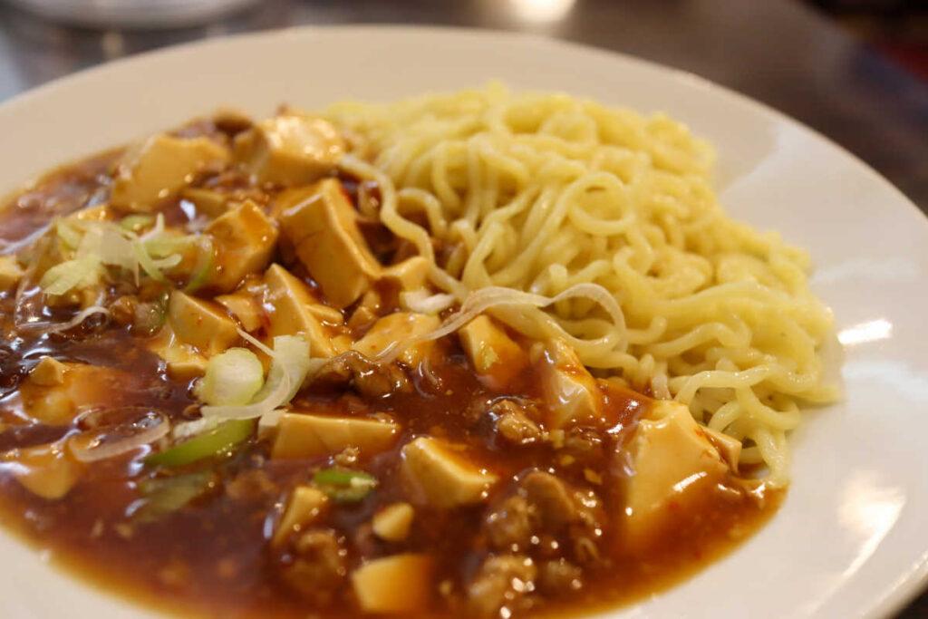 家宴の麻婆豆腐かき混ぜ麺
