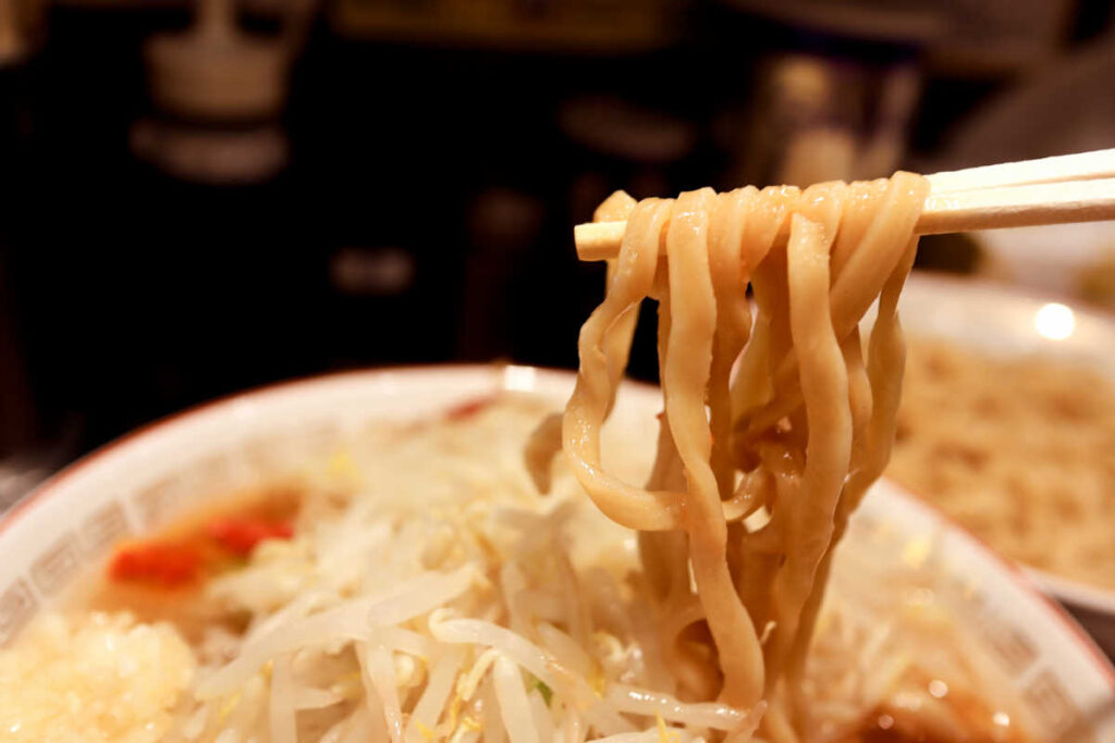 つけ麺の麺リフト