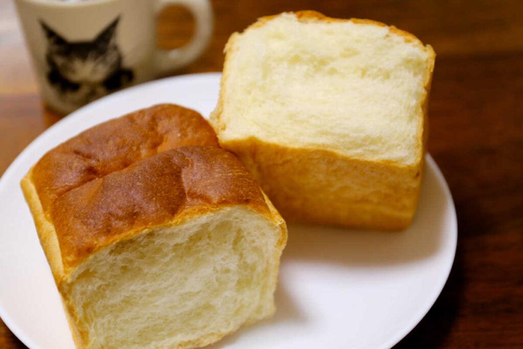 クリームパン半分
