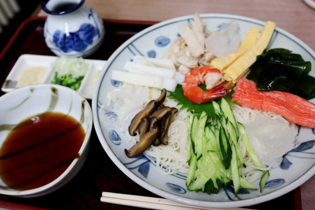 寿々木家の冷五目素麺