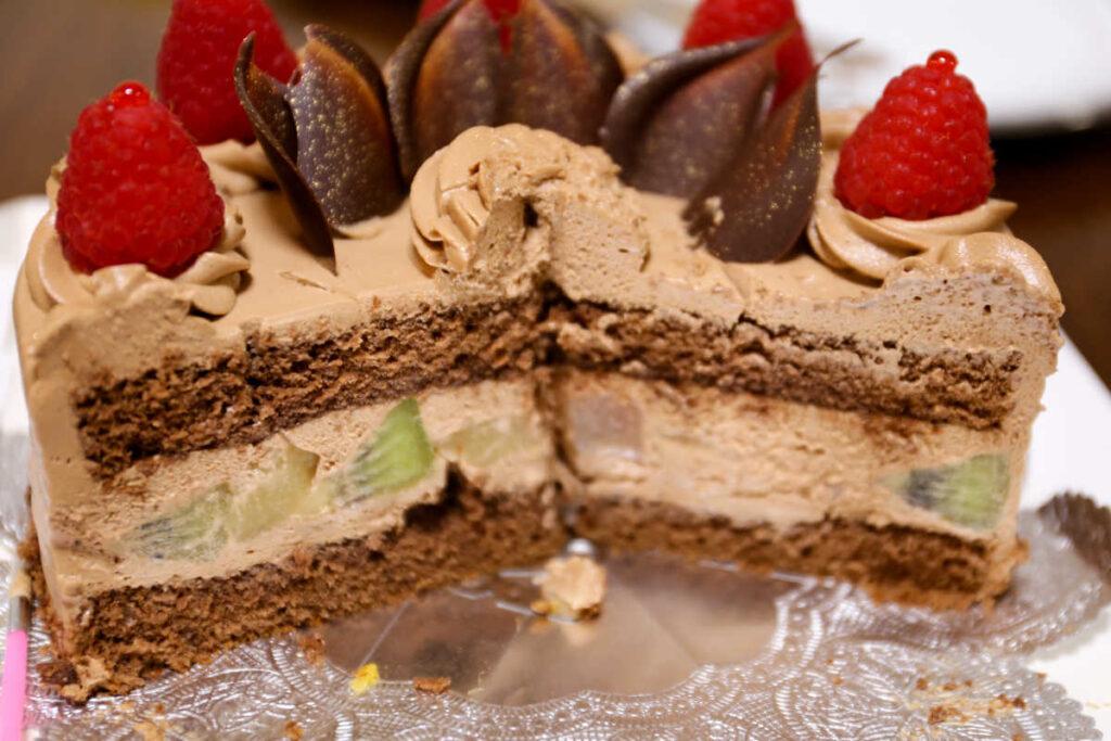 ケーキの断面図