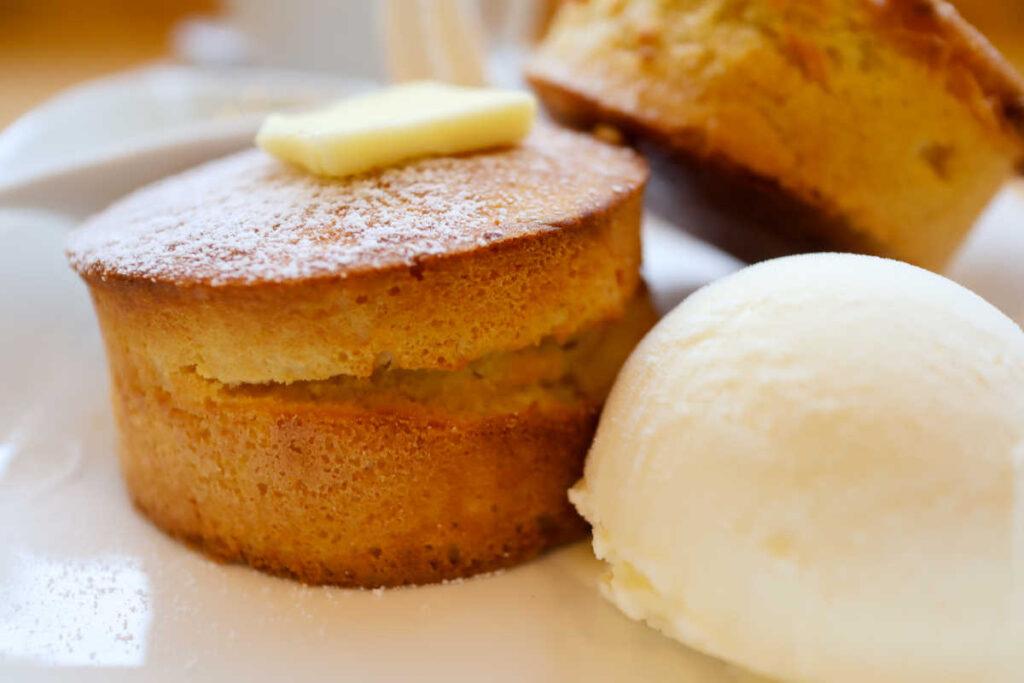 パンケーキとアイス