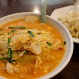 中華料理『家宴』の豚キムチ麺と半チャーハン